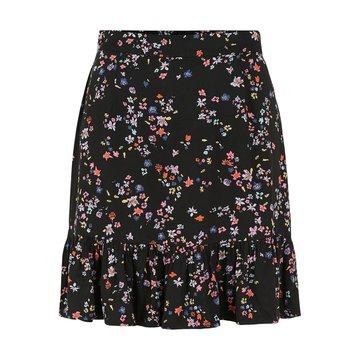 Pieces Pieces PC Lala MW Skirt Black/Splash Flo