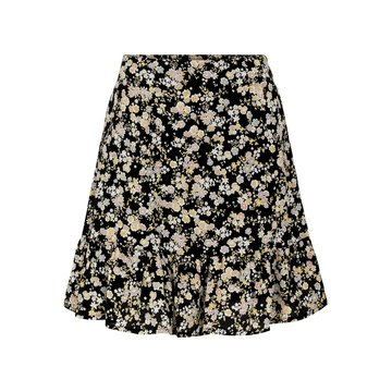 Pieces Pieces PCGERTRUDe MW Skirt Black/Flowers