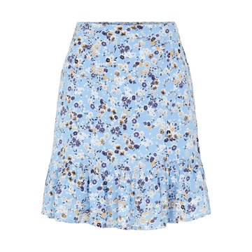 Pieces Pieces PCGERTRUDE MW Skirt Little Boy Blue/Flowers