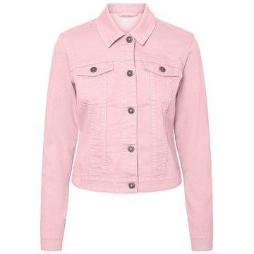 Noisy May Noisy May NMDebra L/S Colour Denim Jacket S* Silver Pink