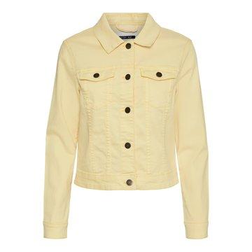 Noisy May Noisy May NMDebra L/S Colour Denim Jacket S* Golden Haze