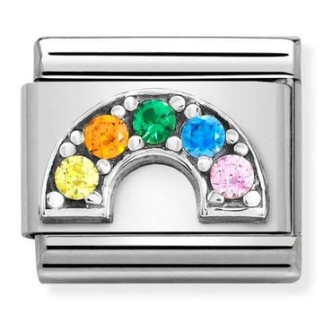 Nomination 330323-01 Rainbow colored CZ
