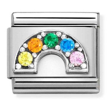 Nomination 330323-01 Rainbow colored CZ