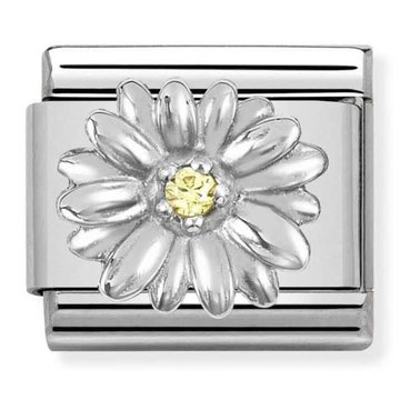 Nomination 330311-13 Daisy with Yellow CZ