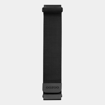 Oozoo Timepieces Oozoo Smartwatch Strap Black Mesh 20mm