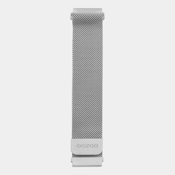 Oozoo Timepieces Oozoo Smartwatch Strap Silver Mesh 20mm