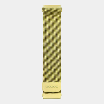 Oozoo Timepieces Oozoo Smartwatch Strap Gold Mesh 20mm