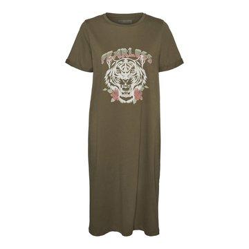 Noisy May Noisy May NMHazel S/S T-shirt Dress Kalamata Tiger