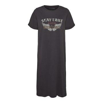 Noisy May Noisy May NMHazel S/S T-shirt Dress Obsidian Wings