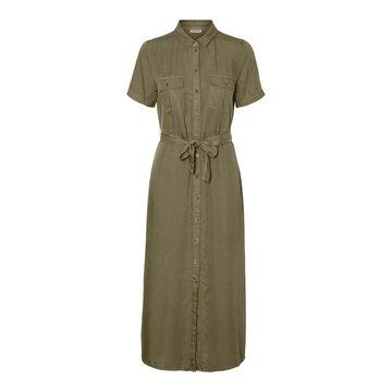 Noisy May Noisy May NMCersei S/S Button Dress Olive Night