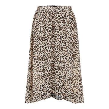 Pieces Pieces PCTia HW Midi Skirt BC Black/Leo