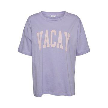 Noisy May Noisy May NMIda Oversized T-shirt Lavender Fog Vacay