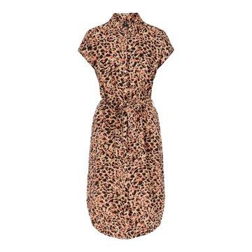 Pieces PCNYA Shirt Dress Apricot Cream Leo
