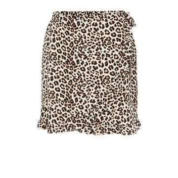 Pieces Pieces PC Tina Wrap Skirt Black/Leo