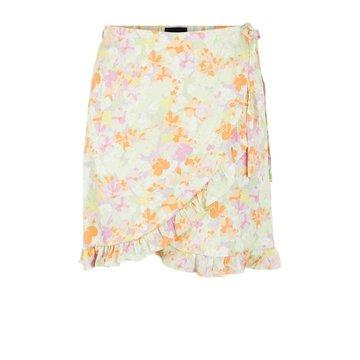 Pieces Pieces PC Tina Wrap Skirt Jade Lime Flowers