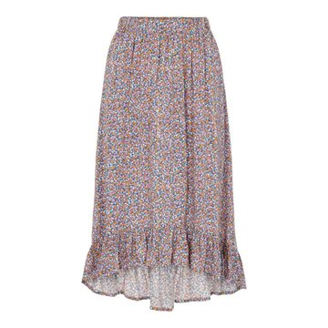 Pieces Pieces PC Timberly HW Midi Skirt Ultra Marin