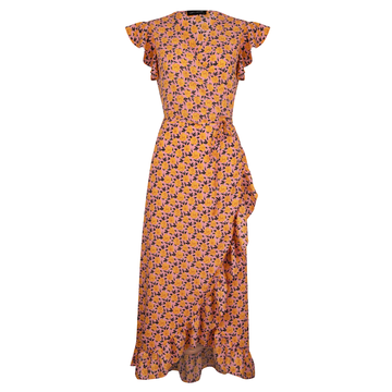 Lofty Manner Lofty Manner Flower Dress Liv Orange