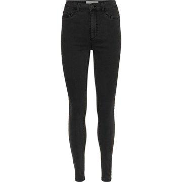 Noisy May Noisy May Nmcallie HW Skinny Jeans Dark Grey Denim