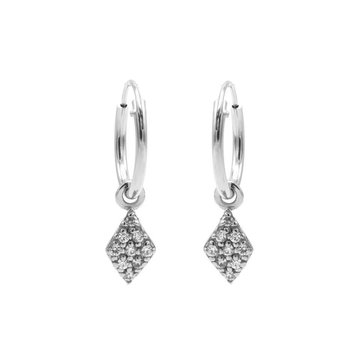 Karma Karma Hoops Symbols Zirconia Diamond Silver
