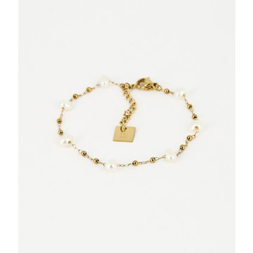 Zag Bijoux Zag Bijoux Armband Goudkleurig Beads and Pearls