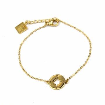 Zag Bijoux Zag Bijoux Armband Goudkleurig Compass