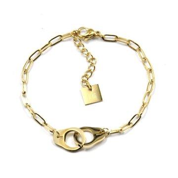 Zag Bijoux Zag Bijoux Armband Goudkleurig Handcuffs