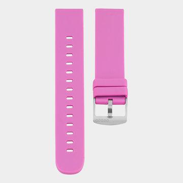 Oozoo Timepieces Oozoo Smartwatches - Unisex - Rubber Horlogeband Fel Roze-Zilver