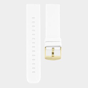 Oozoo Timepieces Oozoo Smartwatches - Unisex - Rubber Horlogeband Wit-Goud