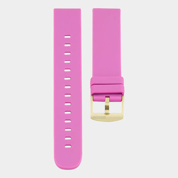 Oozoo Timepieces Oozoo Smartwatches - Unisex - Rubber Horlogeband Fel Roze-Goud