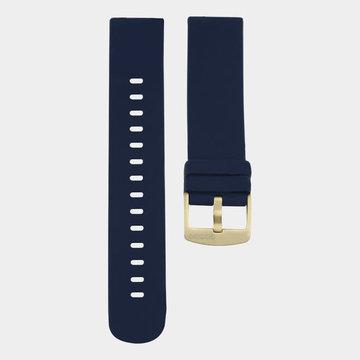 Oozoo Timepieces Oozoo Smartwatches - Unisex - Rubber Horlogeband Donkerblauw-Goud
