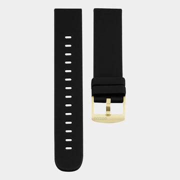 Oozoo Timepieces Oozoo Smartwatches - Unisex - Rubber Horlogeband Zwart-Goud