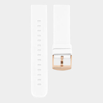 Oozoo Timepieces Oozoo Smartwatches - Unisex - Rubber Horlogeband Wit-Rosé
