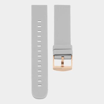 Oozoo Timepieces Oozoo Smartwatches - Unisex - Rubber Horlogeband Steengrijs-Rosé