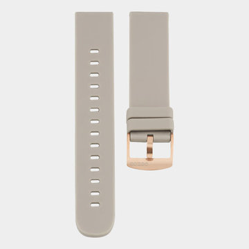 Oozoo Timepieces Oozoo Smartwatches - Unisex - Rubber Horlogeband Taupe-Rosé