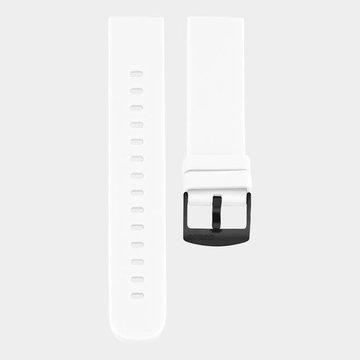 Oozoo Timepieces Oozoo Smartwatches - Unisex - Rubber Horlogeband Wit-Zwart