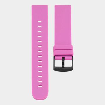 Oozoo Timepieces Oozoo Smartwatches - Unisex - Rubber Horlogeband Fel Roze-Zwart