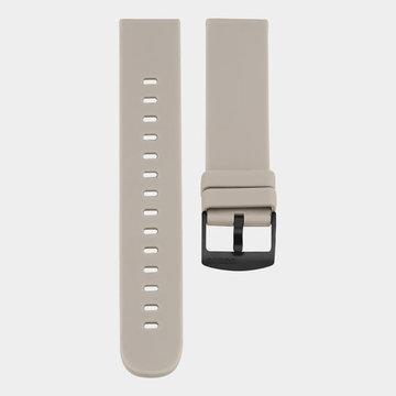 Oozoo Timepieces Oozoo Smartwatches - Unisex - Rubber Horlogeband Taupe-Zwart