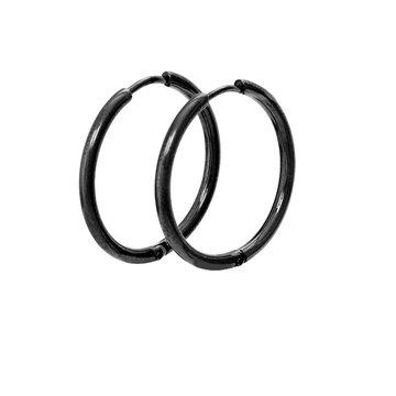 iXXXi Jewelry iXXXi Jewelry Creool 24mm - Zwart