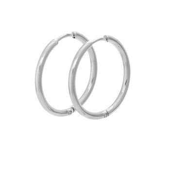iXXXi Jewelry iXXXi Jewelry Creool 24mm - Zilverkleurig