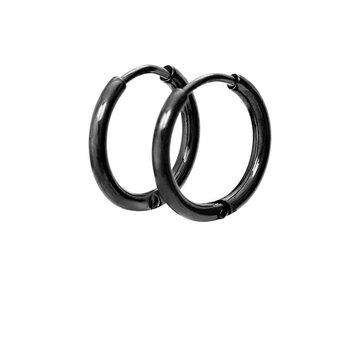 iXXXi Jewelry iXXXi Jewelry Creool 15mm - Zwart