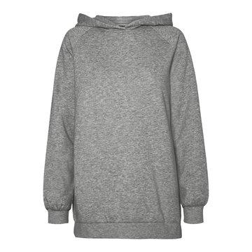 Noisy May Noisy May NMHelene L/S Hood Sweat BG Noos Light Grey Melange