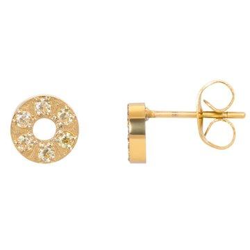 iXXXi Jewelry iXXXi Jewelry Ear studs Circle Stone 6mm - Goudkleurig