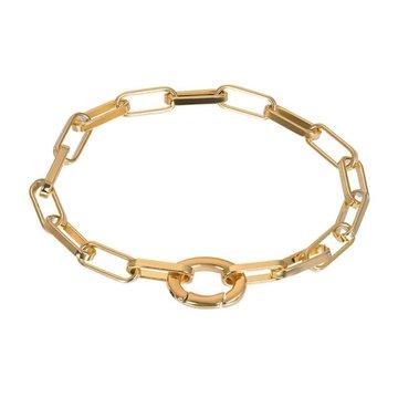 iXXXi Jewelry iXXXi Jewelry Armband Square Chain - Goudkleurig