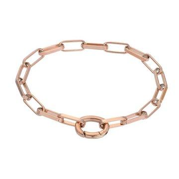 iXXXi Jewelry iXXXi Jewelry Armband Square Chain - Rosé
