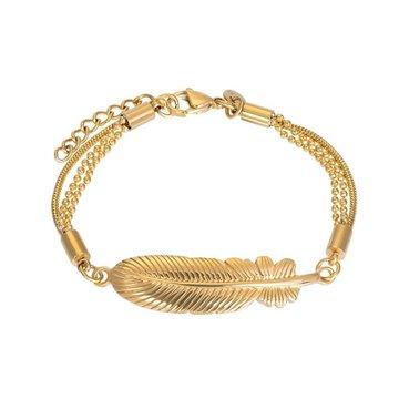 iXXXi Jewelry iXXXi Jewelry Armband Feather - Goudkleurig