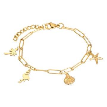 iXXXi Jewelry iXXXi Jewelry Armband met Charms - Goudkleurig