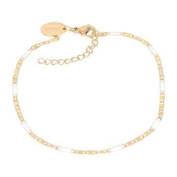 iXXXi Jewelry iXXXi Jewelry Armband Curacao White - Goudkleurig