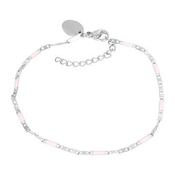 iXXXi Jewelry iXXXi Jewelry Armband Curacao Pink - Zilverkleurig