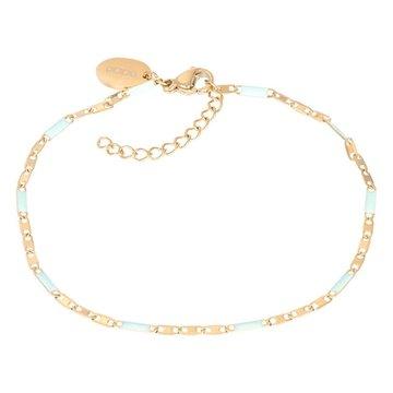 iXXXi Jewelry iXXXi Jewelry Armband Curacao Green- Goudkleurig