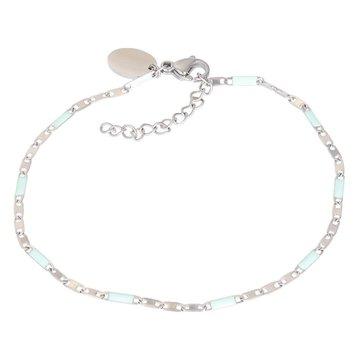 iXXXi Jewelry iXXXi Jewelry Armband Curacao Green - Zilverkleurig
